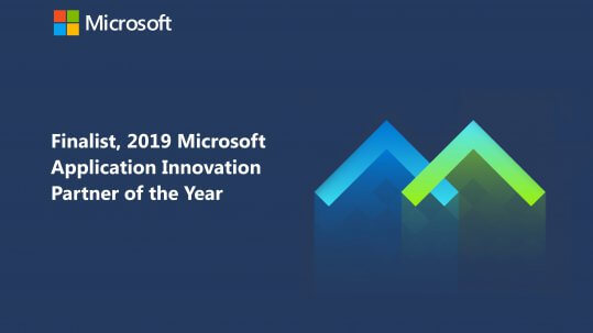 Wragby is recognized as a finalist in the 2019 Microsoft Application Innovation Partner of the Year Award